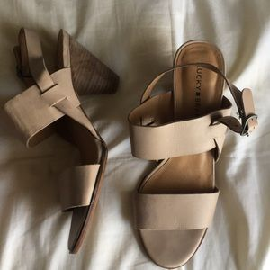 Lucky Brand cone heels